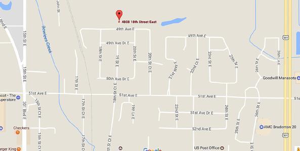 Burnetts Wholesale Nursery - Us post office bradenton map